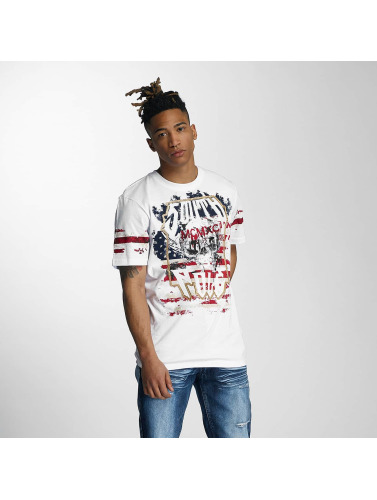 Southpole Herren T-Shirt Embo Technique Foil Print in weiß