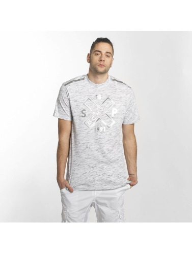Southpole Herren T-Shirt Marbled in weiß