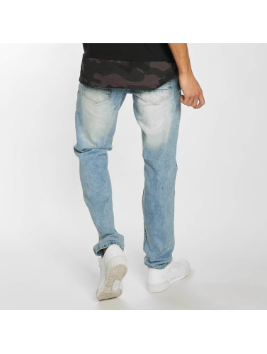 Southpole Hombres Vaqueros pitillos Ripped Stretch Denim in azul