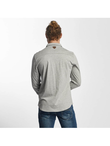 Sublevel Hombres Camisa Baihu in gris