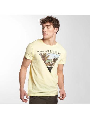 Sublevel Hombres Camiseta South Beach in amarillo