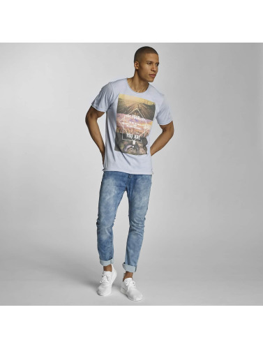 Sublevel Hombres Camiseta Live Your Life in azul