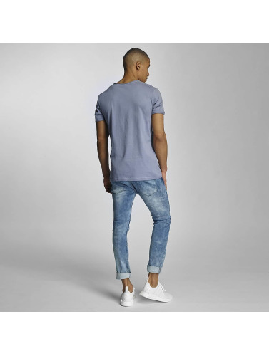 Sublevel Hombres Camiseta Summer Vibes Only in azul