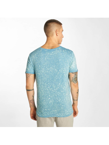 Sublevel Hombres Camiseta Ocean Point in azul