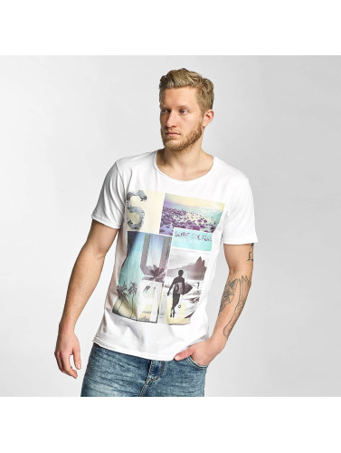 Sublevel Hombres Camiseta Surf Culture in blanco