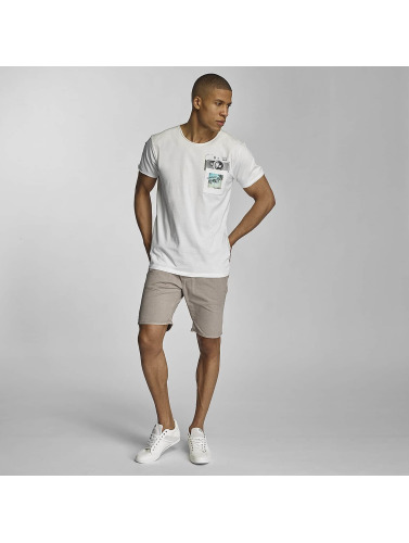 Sublevel Hombres Camiseta Summer Vibes Only in blanco