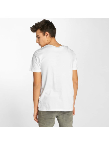 Sublevel Hombres Camiseta Business in blanco