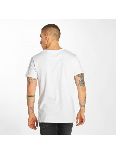 Sublevel Hombres Camiseta Hot Summer in blanco