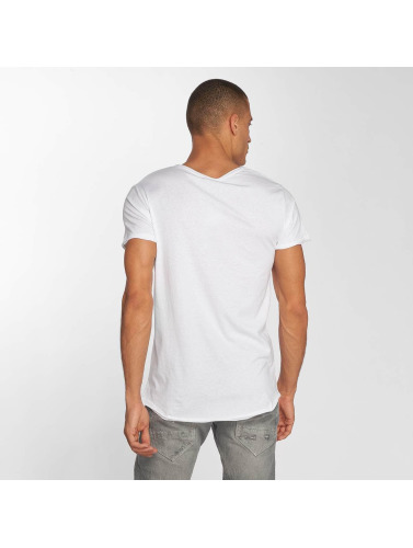 Sublevel Hombres Camiseta Beachlife in blanco