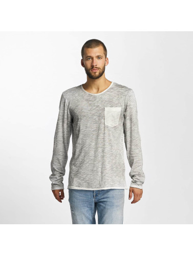 Sublevel Hombres Camiseta de manga larga Level Up in gris