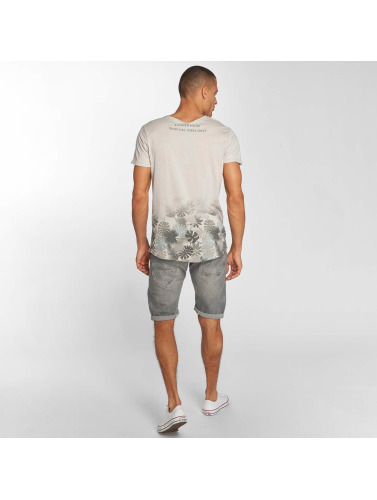 Sublevel Hombres Camiseta Tropic in gris