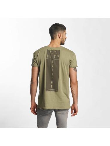 Sublevel Hombres Camiseta NY City in oliva