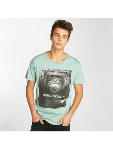 Sublevel Hombres Camiseta What Ya in turquesa