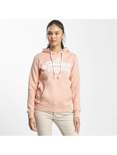 Sublevel Damen Hoody Love Peace Happiness in rosa