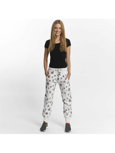 Sublevel Damen Jogginghose Allover Print in grau