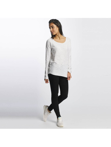 Sublevel Damen Longsleeve Oversize in weiß