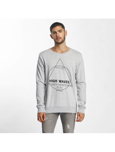 Sublevel Herren Pullover High Waves in grau