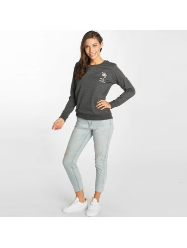Sublevel Damen Pullover Unicorn in grau