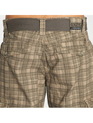 Sublevel Herren Shorts Cargo in grau