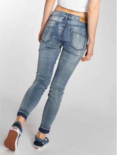 Sublevel Damen Skinny Jeans Destroyed in blau