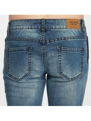 Sublevel Damen Skinny Jeans Stripe in blau