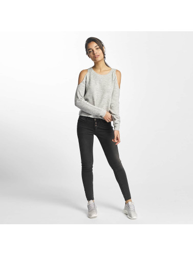 Sublevel Damen Skinny Jeans Transparent World in schwarz