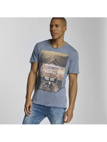 Sublevel Herren T-Shirt Live Your Life in blau