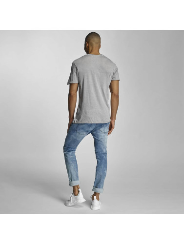 Sublevel Herren T-Shirt Live Your Life in grau