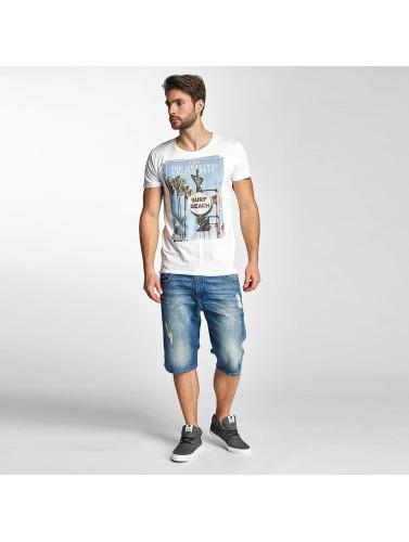 Sublevel Herren T-Shirt Surf Beach in weiß