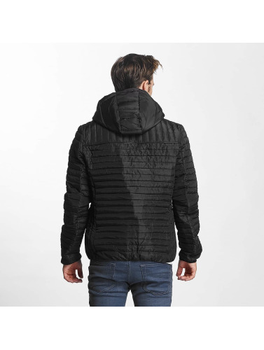 Sublevel Herren Winterjacke Quilt in schwarz