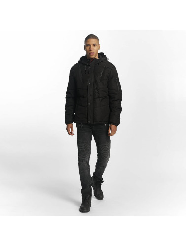 Sublevel Herren Winterjacke Quilted in schwarz
