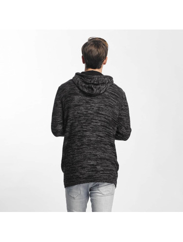 Sublevel Herren Zip Hoodie Knit Zip in schwarz