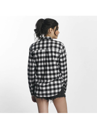 Superdry Damen Bluse Zephyr Check in weiß