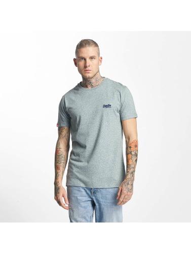 Superdry Hombres Camiseta Orange Label Vintage Embroidered in azul
