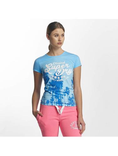 Superdry Mujeres Camiseta Fotografisk Oppføring I Azul klaring amazon 7xPGa