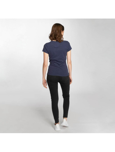 Superdry Mujeres Camiseta Vintage Logo Sequin Entry in azul