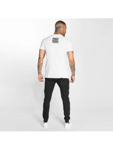 Superdry Hombres Camiseta Echo Box in blanco