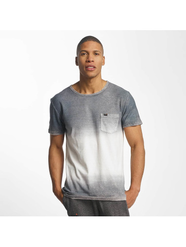 Superdry Hombres Camiseta West Coast Fade Longline in gris