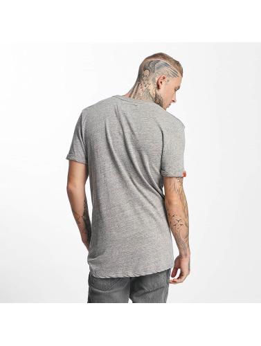 Superdry Hombres Camiseta Varsity Long Line in gris