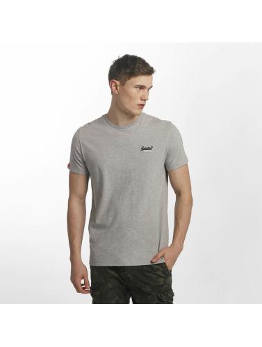 Superdry Hombres Camiseta Orange Label Vintage Embroidered in gris