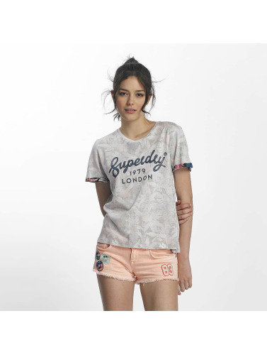 Superdry Mujeres Camiseta 1979 Hawaii Boxy in gris