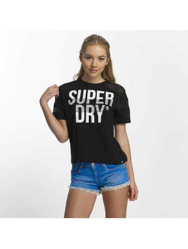 Superdry Mujeres Camiseta Pacific Pieced in negro