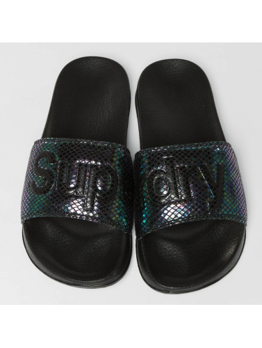 Superdry Mujeres Chanclas / Sandalias Pool in negro