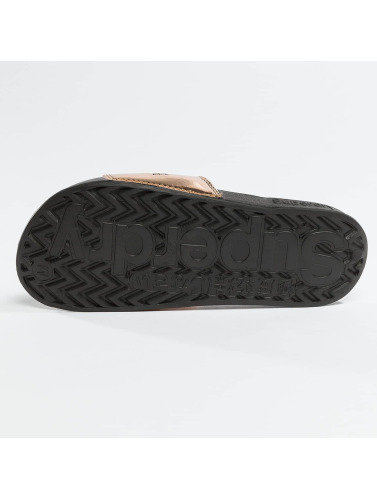Superdry Mujeres Chanclas / Sandalias City Slide in oro
