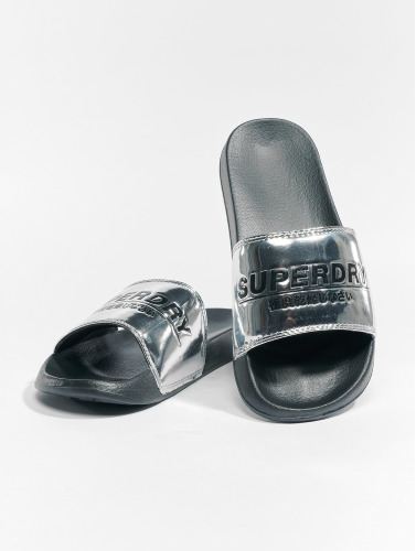 Superdry Mujeres Chanclas / Sandalias City Slide in plata