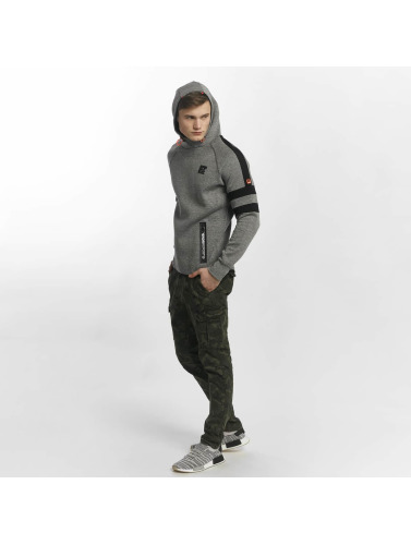 Superdry Herren Hoody Sport Gym Technical Stripe Overhead in grau