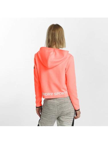 Superdry Damen Hoody Sport Gym Technical Luxe Crop in orange