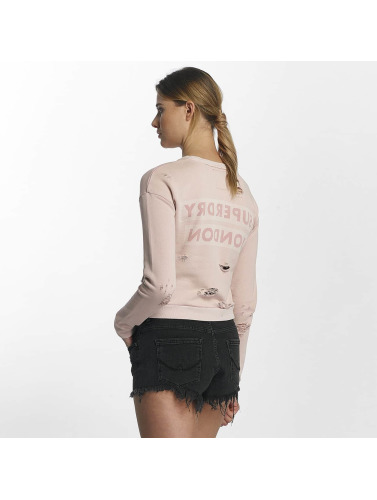 Superdry Mujeres Jersey Distress Boxy in rosa
