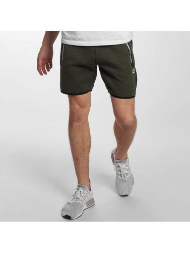 Superdry Herren Shorts Sport Gym Technical Stripe in olive