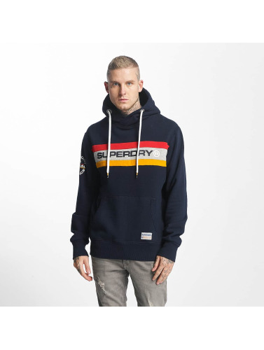 Superdry Hombres Sudadera Trophy Chest Band in azul